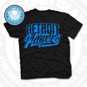 Image of Detroit Player Black (Sports Blue) Tee
