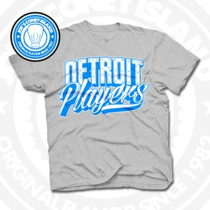 Image of Detroit Players Grey (Sports Blue/Wht) Tee