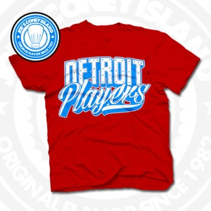 Image of Detroit Players Red (Sports Blue/Wht) Tee