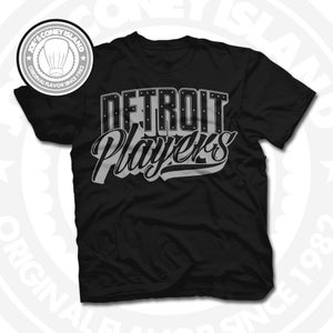 Image of Detroit Players Black (Sports Grey) Tee