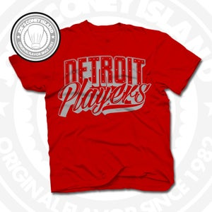 Image of Detroit Players Red (Sports Grey) Tee
