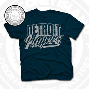 Image of Detroit Players Navy (Sports Grey) Tee