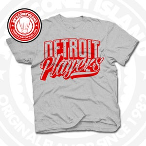 Image of Detroit Players Grey (Red) Tee