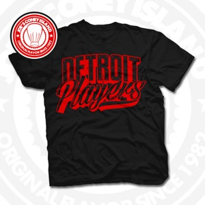 Image of Detroit Players Black (Red) Tee