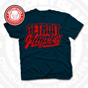 Image of Detroit Players Navy (Red) Tee