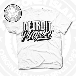Image of Detroit Players White (Black) Tee
