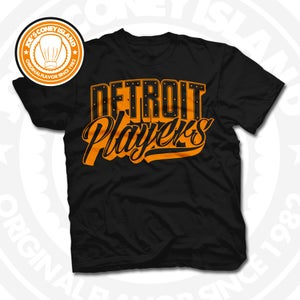 Image of Detroit Players Black (Orange) Tee