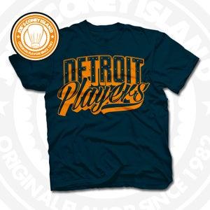 Image of Detroit Players Navy (Orange) Tee