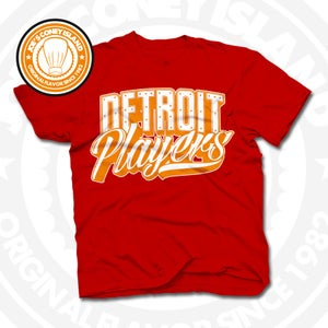 Image of Detroit Players Red (Orange/Wht) Tee