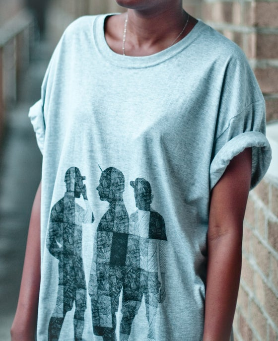 Image of Lola Tee - (Black on Grey)