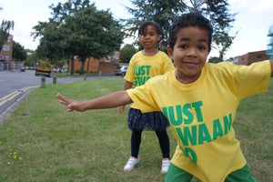 Image of JUST GWAAN DO IT KIDS T-Shirt  YELLOW
