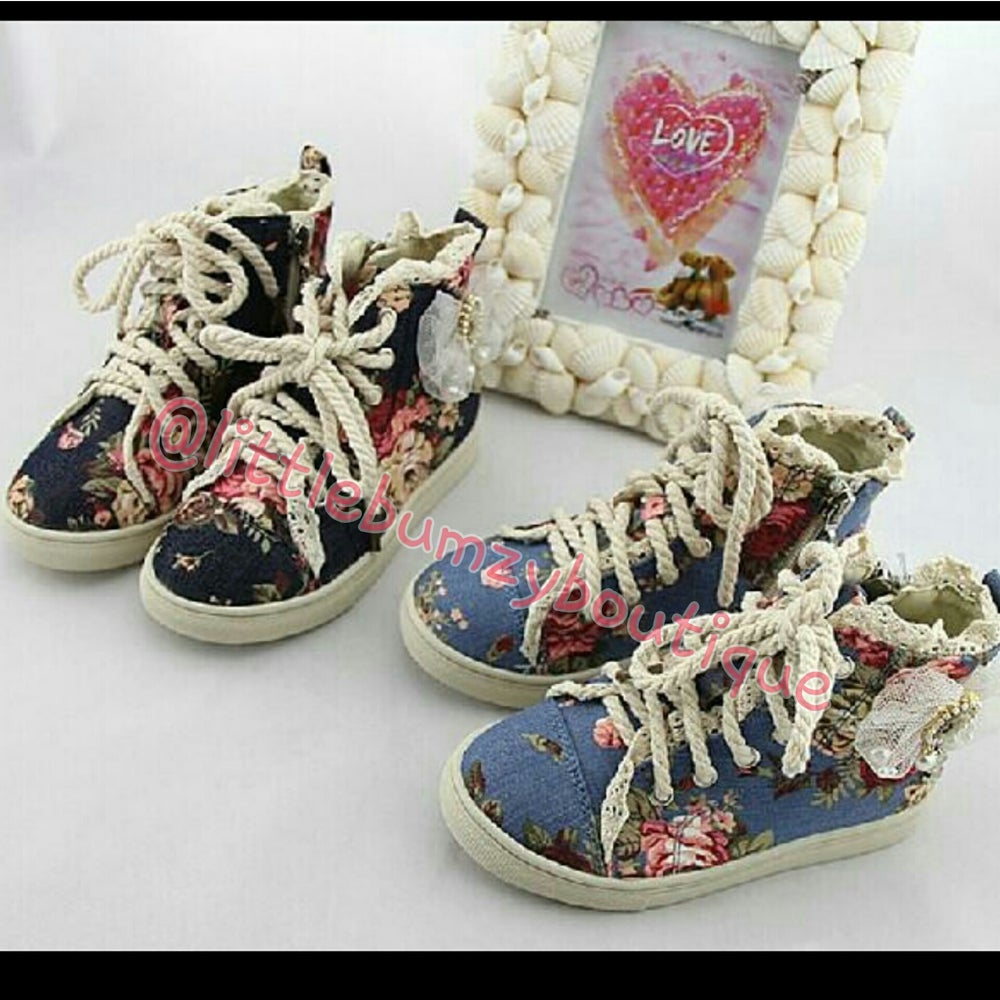 Image of Floral Victorian Canvas Sneakers