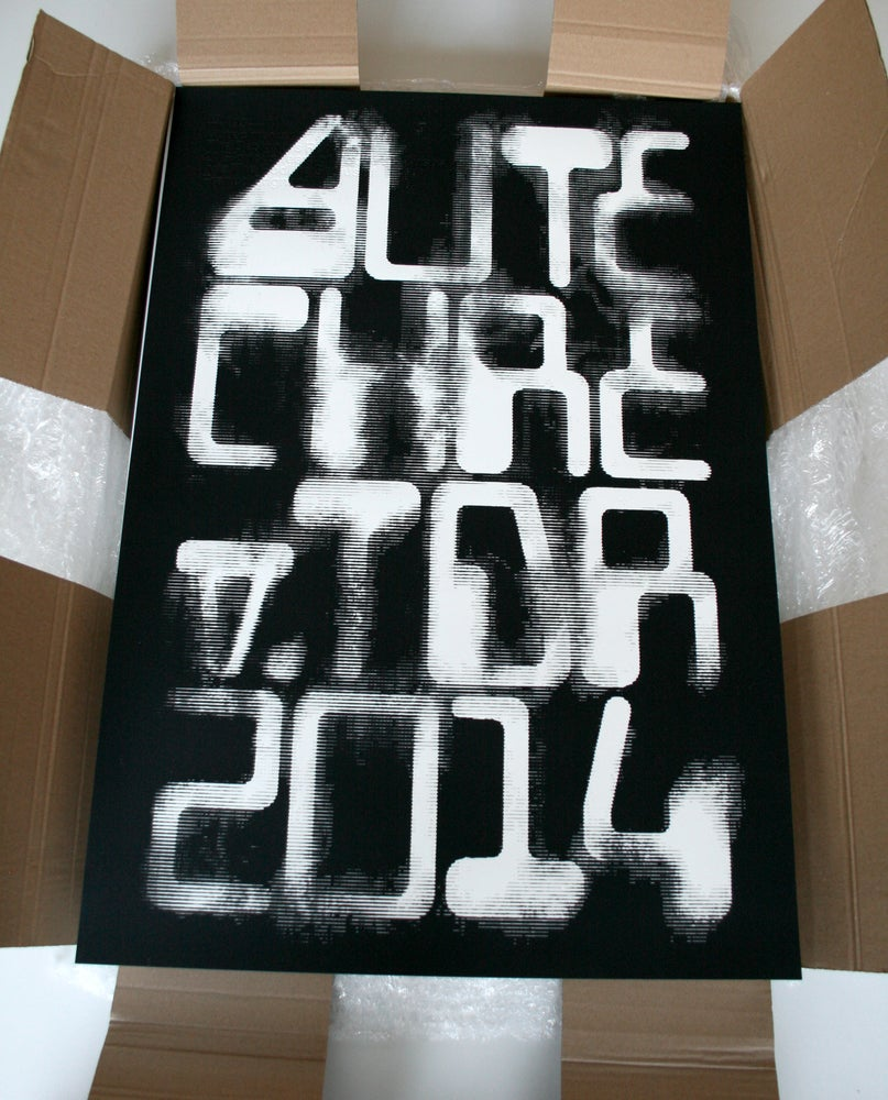 Image of 'Autechre v. TDR 2014' Limited Edition 485x700mm Screenprint
