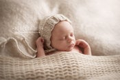 Image of {the Faithful} Newborn Knit Bonnet