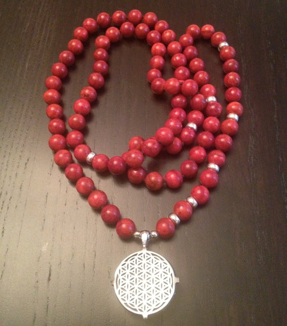 Image of Infinite Connection Mala with Flower Of LIfe