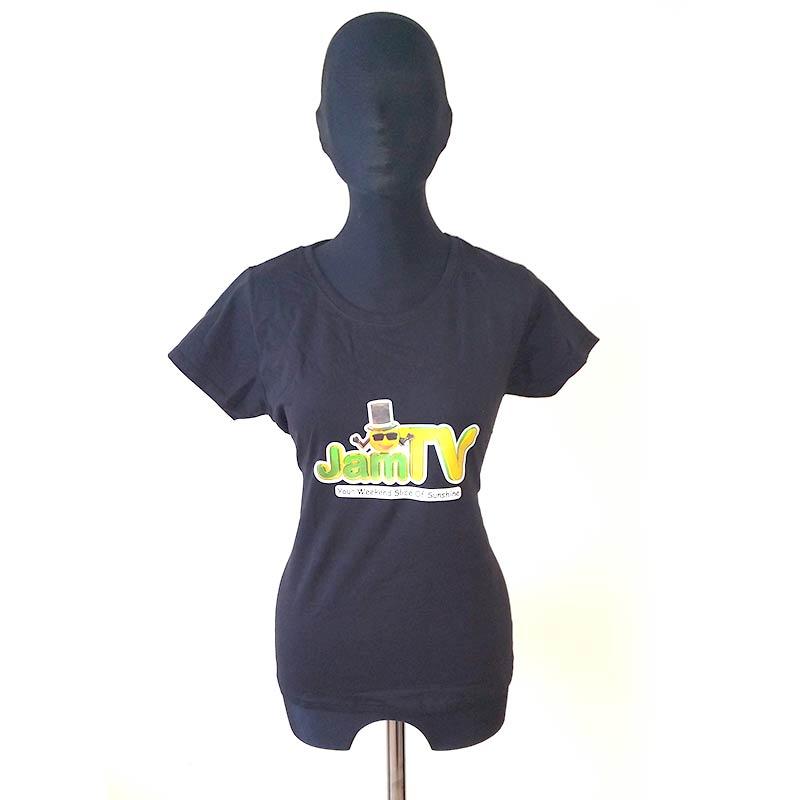 Image of Womens Black T-Shirt