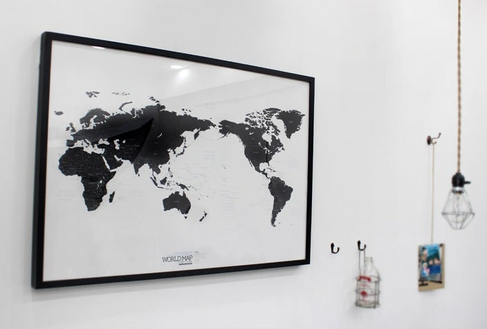 Image of World map ver.black-white