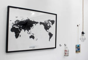 Image of World map ver.black-white