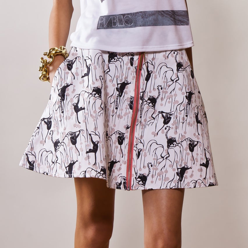 "Image of ""GHOSTS OF THE FOREST"" Skater Skirt (MADAGASCAR EDITION)"