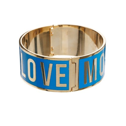 Image of SOLD OUT AUTHENTIC LOVE MOSCHINO WOMEN'S LOGO BRACELET - BLUE