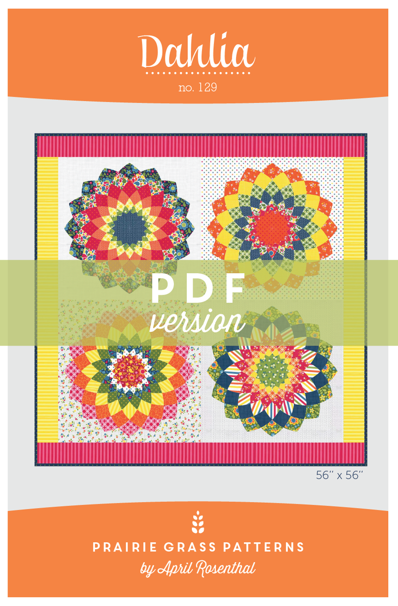 Image of Dahlia: PDF Quilting Pattern #129