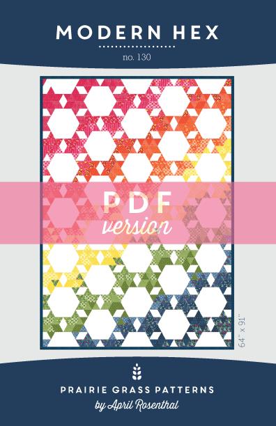 Image of Modern Hex: PDF Quilting Pattern #130