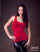 "Image of Shining ""Misantrop Red"" Girlie Tank Top"