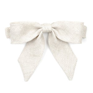 Image of metallic white {lady bow} *last one