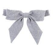 Image of denim stripe {lady bow}