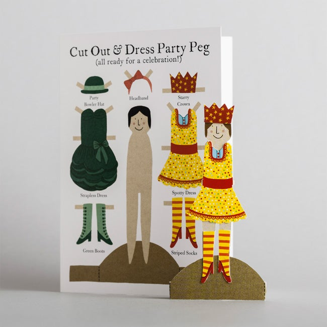 Image of Cut Out Party Peg Card