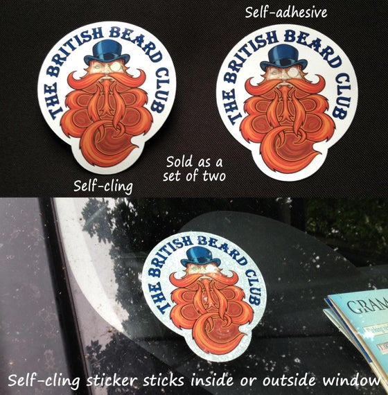 Image of The British Beard Club Sticker Set