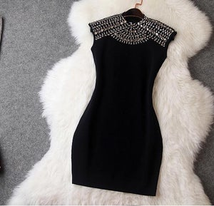Image of Shining rivet show body hot dress