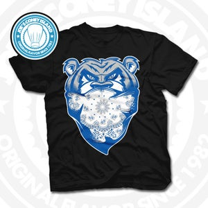 Image of Welcome To The Jungle Black (Sports Blue) Tee