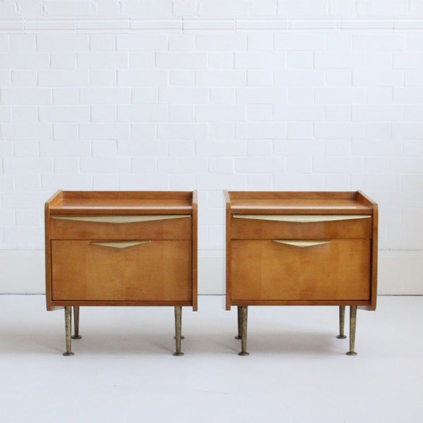Image of Pair of French Bedside Tables (iii)