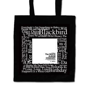 Image of White Album Concert Black Tote Bag