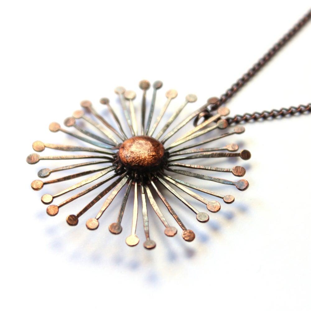 Dandelion Clock Pendant Rebecca Handy Jewellery