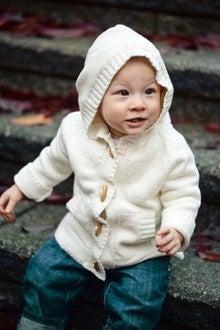 Image of Beba Bean Ivory Toggle Hoodie Sweater