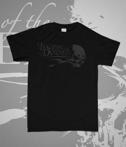 Image of Legion of the damned - LogoSkull Black on Black TS