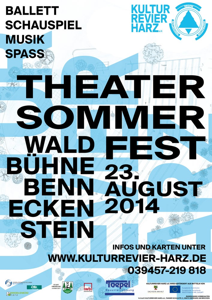 Image of Signiertes Poster THEATERSOMMERFEST2014