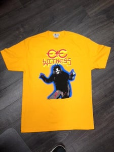 """Image of """"HAIRY MADMAN"""" T-SHIRT GOLD COLOR BODY WAY"""
