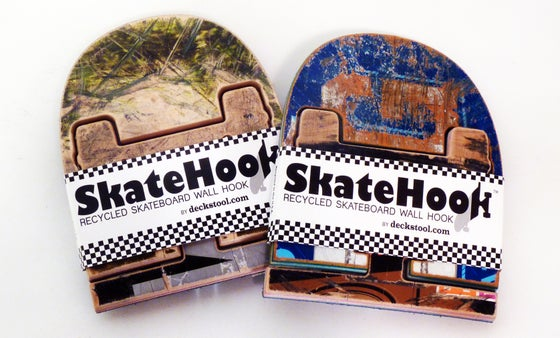 Image of SkateHook - Recycled Skateboard Wall Hooks - Set of (2) Two