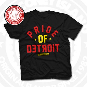 Image of Pride Of Detroit Black (Red/Yellow) Tee