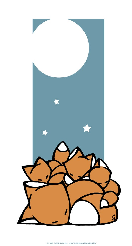 Image of Sleeping Foxes