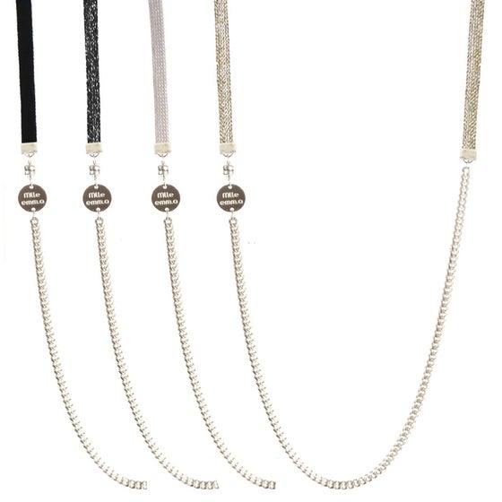 Image of collier bracelet 4 tours Emma M<br>ARGENTÉ