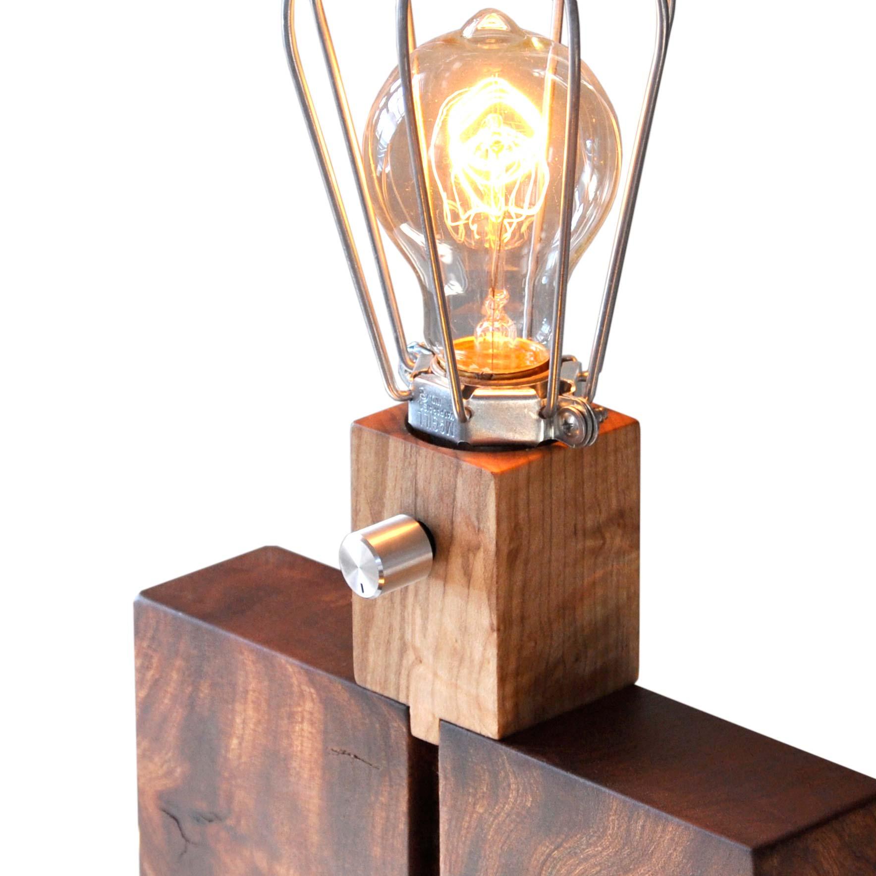 Walnut Table Lamp St 233 Phane Hubert Design