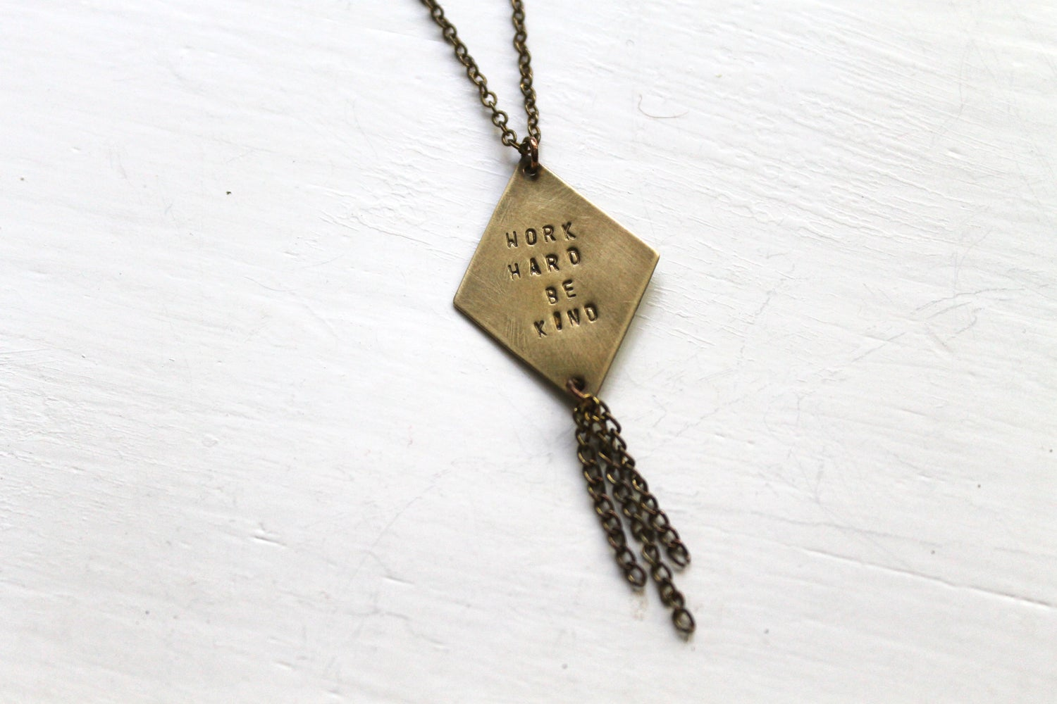 Image of Work Hard Be Kind Necklace