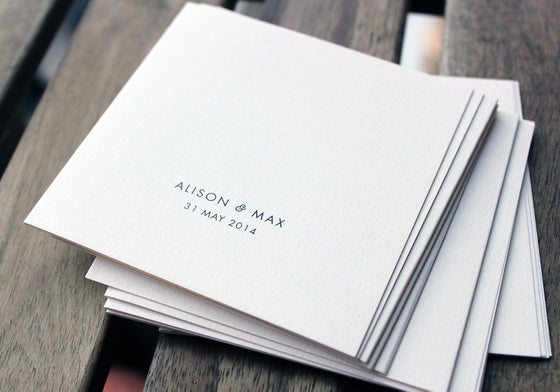 Image of Square Wedding Information Booklets
