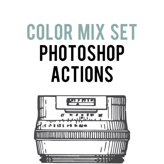 Image of Color Mix Action Set for Photoshop