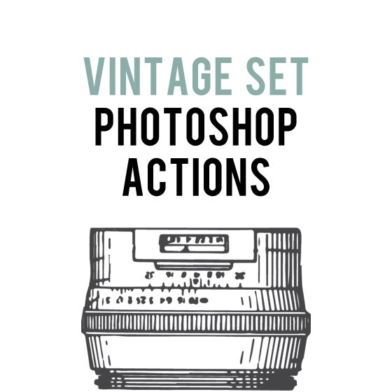 Image of Vintage Action Set for Photoshop