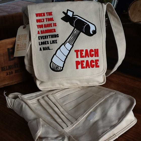 "Image of ""Teach Peace"" Congress Bag"